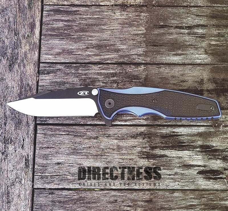 Zero Tolerance 0393 Hinderer Black/Blue Titanium/G-10